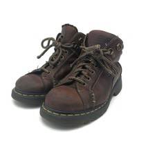 Dr Martens Mens Hiking Ankle Boots Brown 8A54 Air Cushion Lace-Up Round ... - $49.49