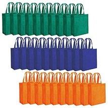 "Tebery 30 Pack Party Bags 8"" x 10"" Non-Woven Gift Bag Tote Bags with Handles Par"