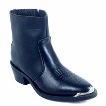 Five Star Climate Black Men's Cowboy Boot  Style # 1003 Bk Size 8.5,13. - £49.96 GBP
