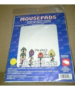 NIP Janlynn Mousepad Birdhouses Counted Cross Stitch Kit USA Pad Included - $24.99