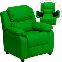 Eight24hours Deluxe Heavily Padded Contemporary Green Vinyl Kids Recline... - $354.20