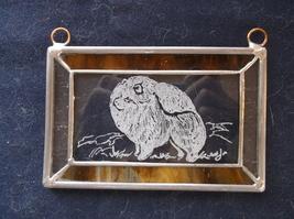 Pomeranian- Hand engraved ornament by Ingrid Jonsson. - $23.00