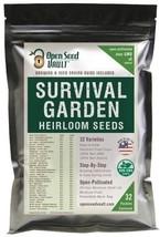 15,000 Non GMO Heirloom Natural Vegetable Seeds, Survival Garden 32 Vari... - $22.86