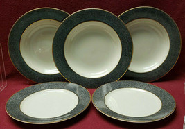 Lot of MIKASA China - GRANITE Pattern #L2116 - (2) SALAD PLATES & (3) SO... - $39.95
