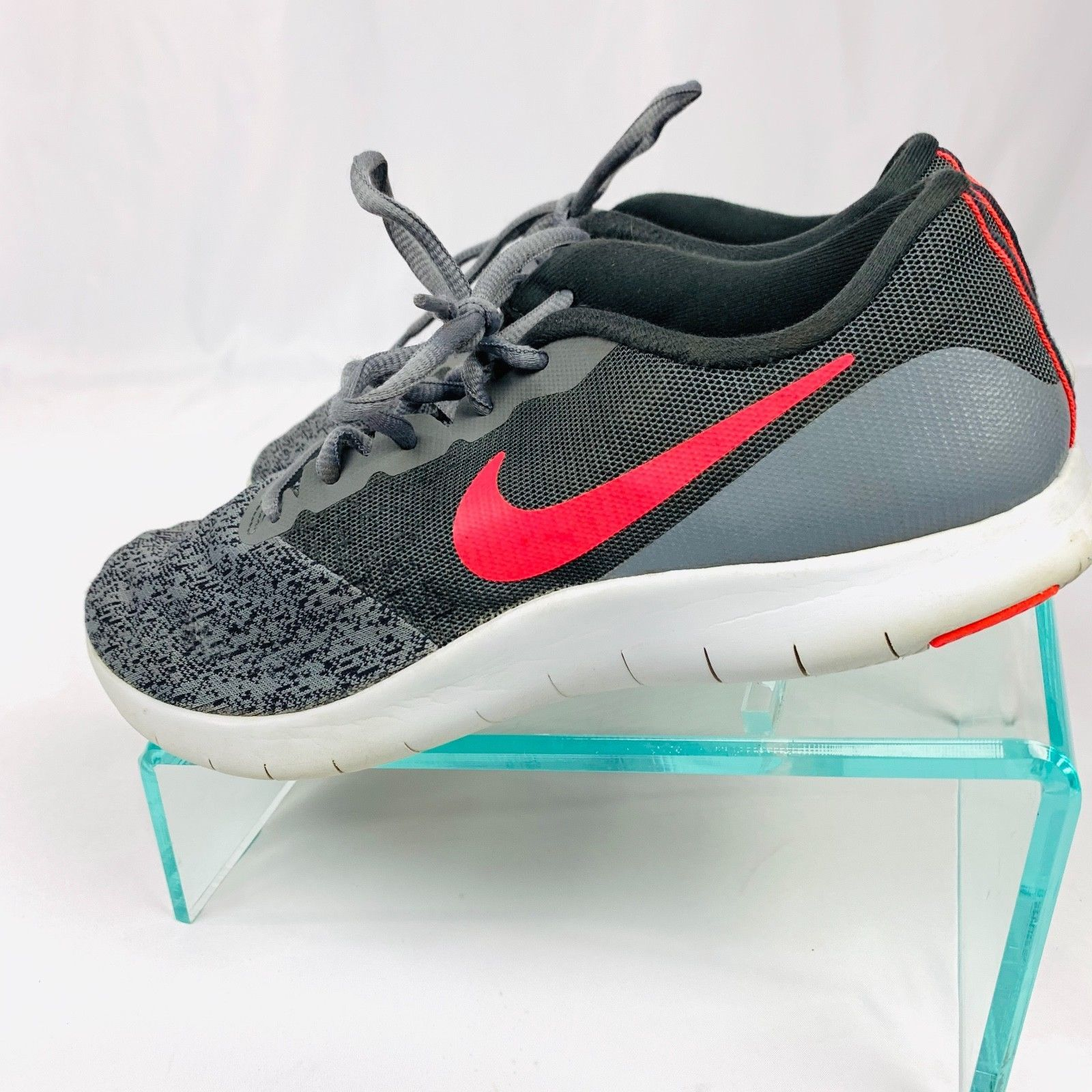NIKE Women's  sz 8.5 Gray Flex Contact Running Sneakers 908995-005