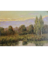 Russian Impressionist Painting * Sunset *, Russian Artist - $29.00
