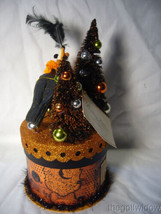 Bethany Lowe Halloween Party Crow on Box Container  image 2
