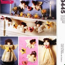 McCall's Crafts Women's Day Angel Tree Topper, Wall Hanging, Ornaments a... - $12.74