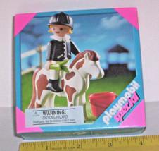 New Sealed 2004 PLAYMOBIL SPECIAL 4641 Horse & Rider GIRL Play Set SPOTT... - $10.90