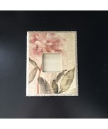 """SHABBY CHIC Floral 8.5"""" x 7"""" WOOD PICTURE FRAME Rustic COUNTRY TEXTURED ... - $9.89"""