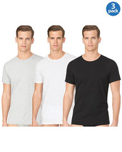 Calvin Klein Men's Classic Crew Neck T-Shirt Cotton Stretch 3-Pack - $19.79+