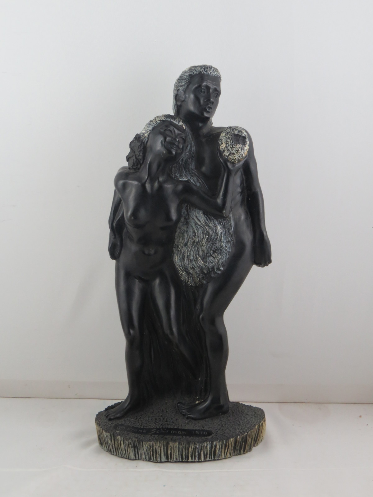 Primary image for Frank Schirman Scultpure - Akamu and Eva - Loving Couple - Made from Coral
