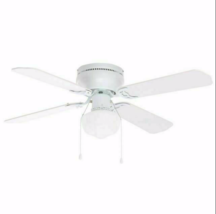 Hampton Bay UB42SWH-SH Littleton 42 in. Indoor White Ceiling Fan with Li... - $44.54