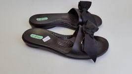 Size Black Shoes Sandals Womens Bow Slides S Okabashi qPZaYY