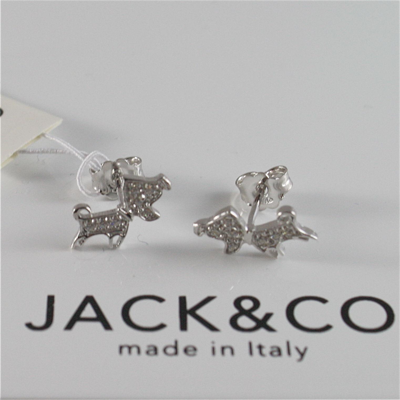 ORECCHINI IN ARGENTO 925 JACK&CO CON CANE JACK RUSSEL CON ZIRCONIA JCE0262