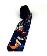 Looney Tunes Mania Polyester Neck Tie Bugs Bunny Taz Daffy Golf 1996 Vin... - $16.82