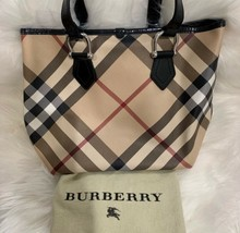Authentic Burberry Nova Check Tote - $300.71