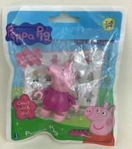 Peppa Pig in Pajama Shirt Building Toy Figure Minifigure Jazwares eone Sealed - $9.85
