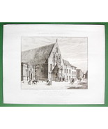 ARCHITECTURE PRINT : France Dijon Old Assembly House Perspective View - $23.62
