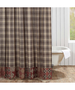 Dawson Star shower curtain rustic log cabin bath decor - $49.49