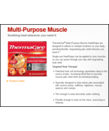 Thermacare Knee Wraps 8 Hours of Heat 6 Boxes (3 Pouches Per Box) - MS80389 - $70.92