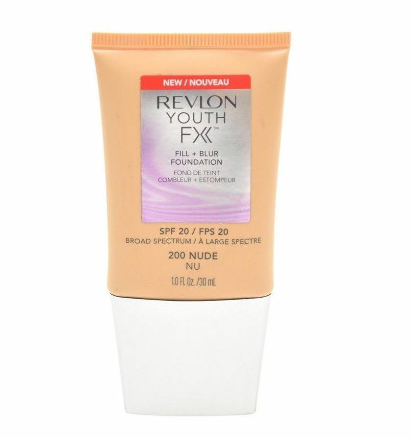 Primary image for Revlon Youth Fx Fill+Blur Foundation #200 Nude SPF20 - 1 fl oz.