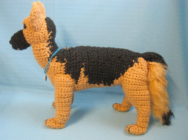 Amigurumi German Shepherd GSD Puppy Show Dog Collectible Crochet by Bren - $79.99