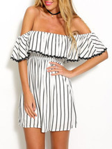 Black And White Striped Summer Cotton Princess ... - $20.99