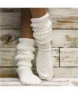 Socks, slouch socks, Hooters socks, 80s socks, scrunchy socks, super thi... - $11.99
