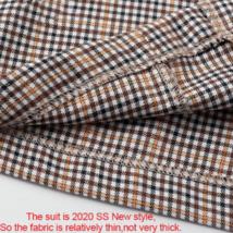 Women's  Double Breasted Plaid Blazer Pant Suit Set image 5