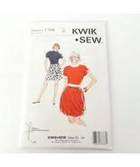 Kwik Sew 1756 Womans Skirt Top A Line Bubble Pattern Sealed Uncut - $14.99