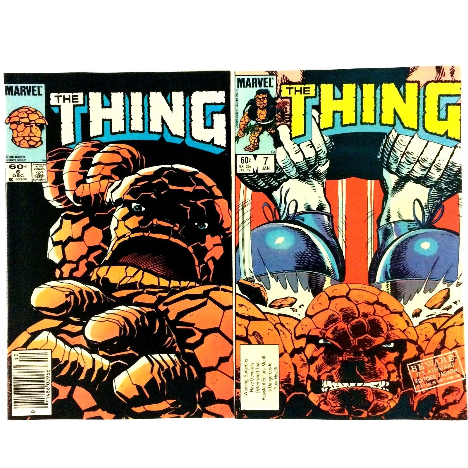 The Thing 13 Issue Comic Book Lot Marvel Copper Age Spider-Man She-Hulk Inhumans