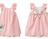 Gymboree Peter Rabbit Pink Ruffle Sleeve Dress Easter Bunny Beatrix Potter 6-12
