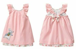 Gymboree Peter Rabbit Pink Ruffle Sleeve Dress Easter Bunny Beatrix Pott... - $29.69