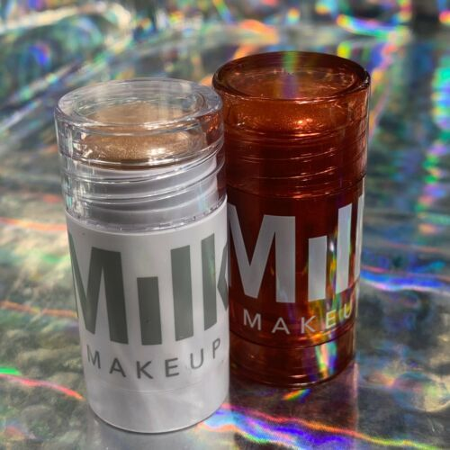 NWOB Milk Makeup Blitzed Highlighter Stick 6g & GlimmerGlow Oil Lip + Cheek 6g