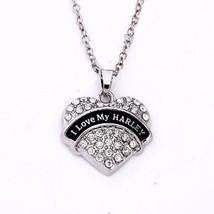 Vintage, Sparkling Austrian Crystal Heart Biker Valentin's Day Necklace ... - $9.49