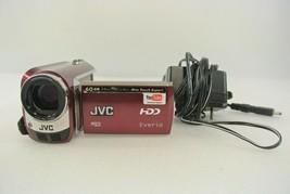 JVC Camcorder w/ Power Cord Model GZ-MG630RU Maroon 60GB Made in Japan It Works! - $77.39