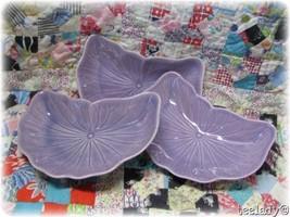 Metlox Poppytrail Plum Lilac Lotus Crescent Salad Plates Vernon Ware 3 V... - $18.99
