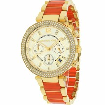 Michael Kors Ladies Watch MK6139 Parker Orange Chronograph Watch - $107.91