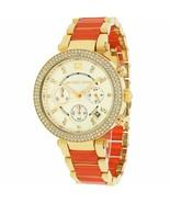 Michael Kors Ladies Watch MK6139 Parker Orange Chronograph Watch - $68.09