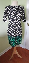 Eliza J Print Shift Dress SIZE 4 Small Career Casual Party Geometric Geo - $23.34