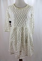 Ralph Lauren Floral Lace Short 3/4  Sleeve Dress Size 4 # G 112 - $22.27