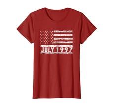 Large size shirts -  Vintage July 1997 Shirt American USA Flag 21st Birt... - $19.95+