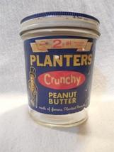 Vintage 1970's Planters Peanut Mr Peanut Crunchy Peanut Butter Jar 12 Oz - $10.95