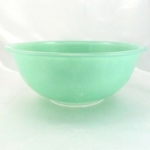 Pyrex 325 Serving Bowl Mint Green Extended Rim Clear Bottom ~ VERY DISTR... - $14.95