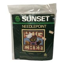 Vintage 1984 Sunset Needlepoint Kit Hug The Chef Teddy Bear 5557 Sealed NOS - $19.99