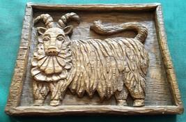 Vintage Faux Carved Bighorn Sheep Ram Figurine Resin Wood Look Carving P... - $15.00