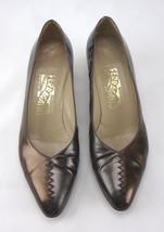 Salvatore Ferragamo Florence Womens Brown Dark Grey Shoes Size 8 B 340 DQ 30241 - $43.65