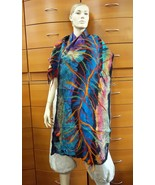 OVERSIZED FELTED WOOL WRAP Handmade Large Shawl Unique Birthday Gift For... - $298.00