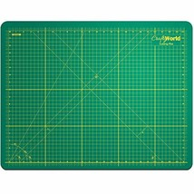 Crafty World Deluxe Cutting Mats - Double Sided Used by Pro Hobbyists - Self Hea